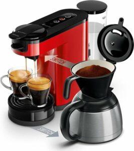 Philips Senseo Switch HD6592-80 - Koffiepadapparaat & Thermoskan - Rood