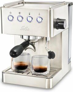 Solis Barista Gran Gusto 1014 Espressomachine - Piston Koffiemachine met Bonen - RVS