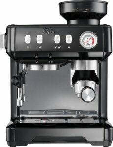 Solis Grind & Infuse Compact 1018 Koffiemachine met Bonen - RVS Pistonmachine Koffie - Zwart